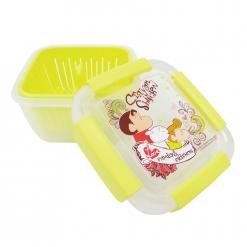 蠟筆小新 瀝水籃保鮮盒(小)-黃