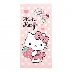 凱蒂貓 浴巾-最愛草莓