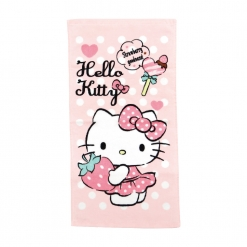 凱蒂貓 童巾-最愛草莓