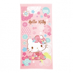凱蒂貓 浴巾-和風櫻花