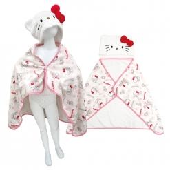 凱蒂貓 造型連帽浴披(兒童)-草莓