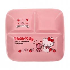 凱蒂貓 方形分隔盤-草莓