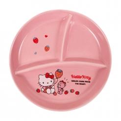 凱蒂貓 圓形分隔盤-草莓