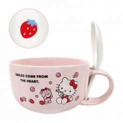 凱蒂貓 湯杯(附湯匙)-草莓