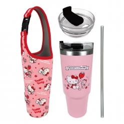 凱蒂貓 冰霸杯&提袋組-草莓