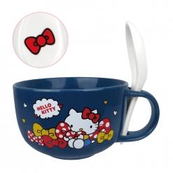 凱蒂貓 湯杯(附湯匙)-蝴蝶結