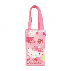 凱蒂貓 保冷暖飲料提袋-櫻花和風