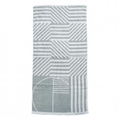 雙色提花浴巾|幾何世界