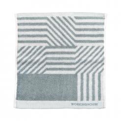 雙色提花方巾|幾何世界