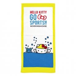 凱蒂貓 愛運動-游泳浴巾|Hello Kitty GO SPORTS