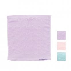 提花 繡花 方巾|波紋