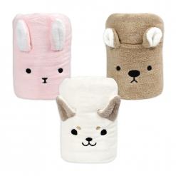 動物造型快乾浴巾|兔子/白柴/袋鼠